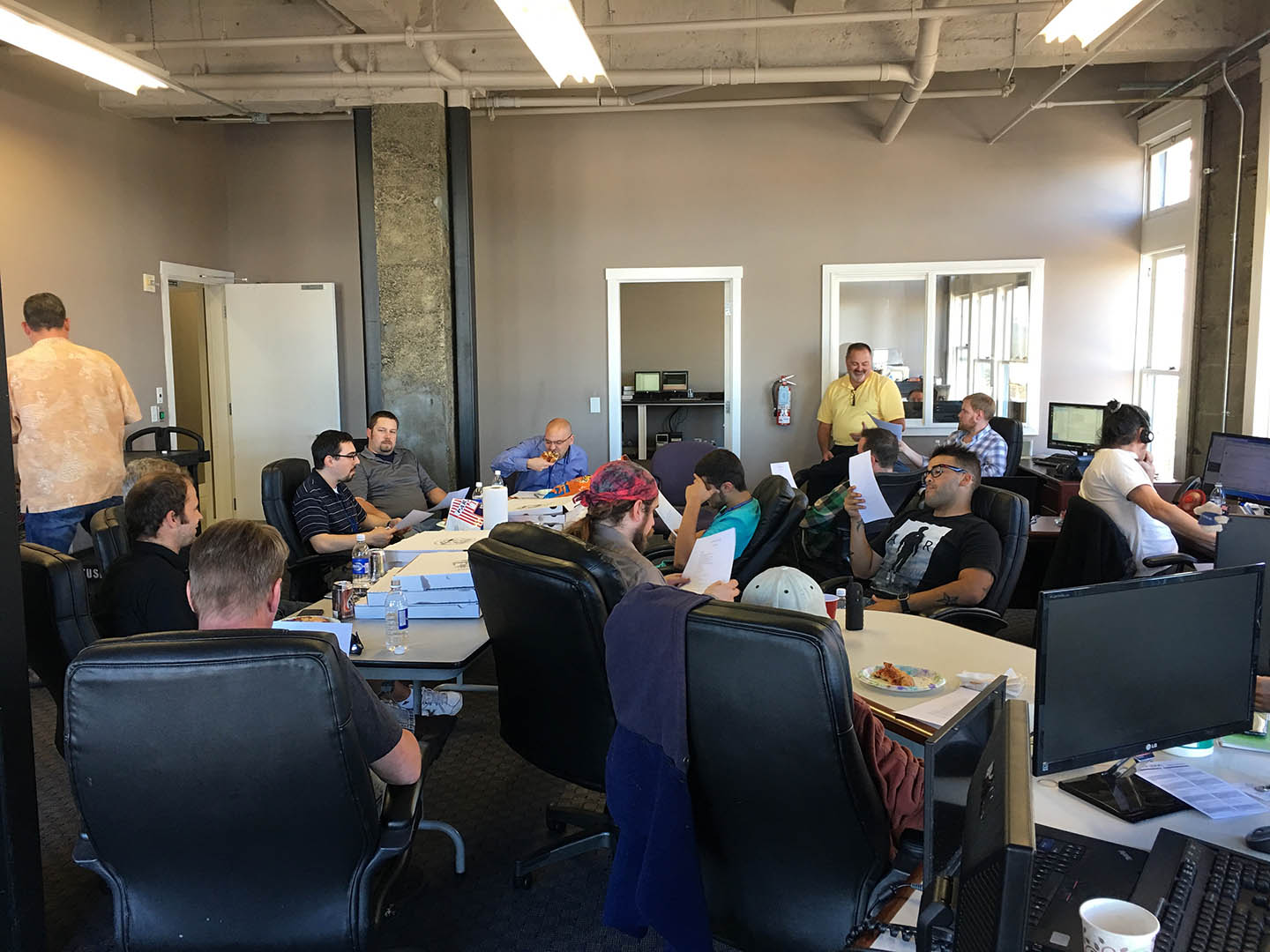 Monthly NOC meeting from our historic Perkins Building in downtown Tacoma